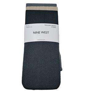 Nine West Trouser Socks 3-Pair Textured Size 9-11